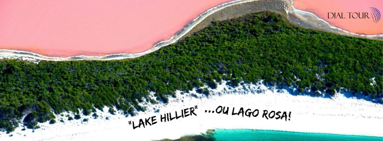Já ouviu falar no Lake Hillier ou lago rosa na Austrália??